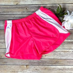 Champion Bright Pink/White Workout/Running Shorts